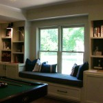 Hoover Basement Remodel Bookcase Window Seat