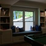Hoover Basement Remodel Built-In Bookcase Window Seat