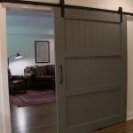 Hoover Basement Remodel Sliding Barn Door 3