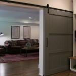 Hoover Basement Remodel Sliding Barn Door Entry
